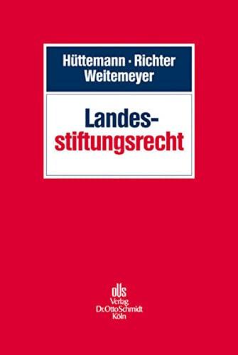 Landesstiftungsrecht: Rainer Hüttemann