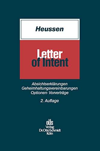 Letter of Intent: Benno Heussen