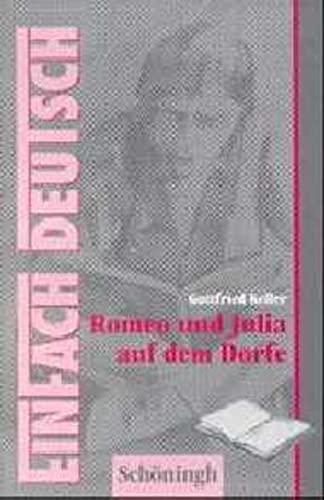 9783506222978: EinFach Deutsch, Romeo und Julia auf dem Dorfe