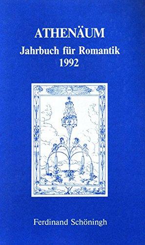 9783506709523: Athenäum. Jahrbuch für Romantik 1992