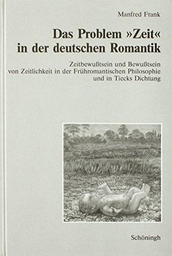 """Das Problem """"Zeit"""" in der deutschen Romantik: Manfred Frank"""