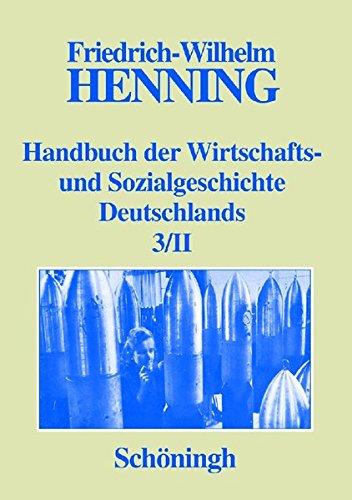 9783506738646: Handbuch der Wirtschafts- und Sozialgeschichte Deutschlands 3/II