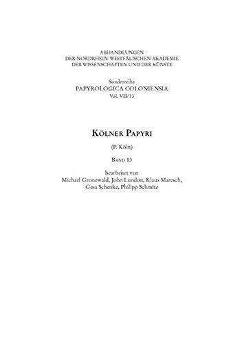 9783506777676: Kölner Papyri (P. Köln). Bd.13