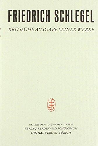 KRITISCHE AUSGABE - Band I: Studien des klassischen Altertums: Schlegel, Friedrich