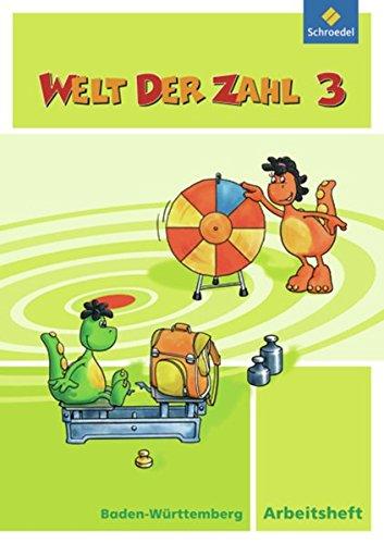 9783507046436: Welt der Zahl 3. Arbeitsheft. Baden-Wurttemberg: Ausgabe 2010