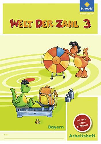 9783507047174: Welt der Zahl 3. Arbeitsheft mit CD-ROM. Bayern: Ausgabe 2014