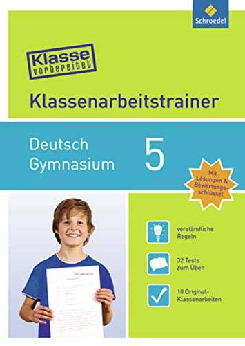 9783507232501: Klasse vorbereitet Deutsch 5 - Gymnasium: Klassenarbeitstrainer