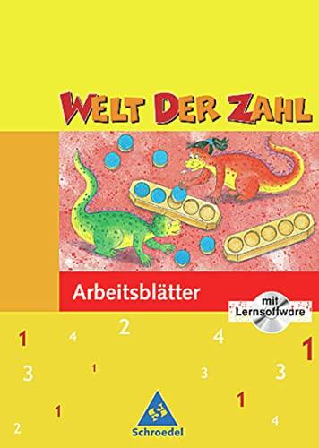 9783507442153: Welt der Zahl 1. Arbeitsheft mit CD-ROM. Für Hessen, Rheinland-Pfalz, Saarland