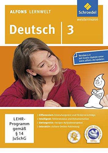 9783507602731: Alfons Lernwelt Lernsoftware Deutsch 3