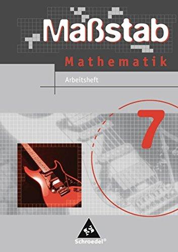 9783507845572: Maßstab 7. Mathematik. Arbeitsheft. Hauptschule. Niedersachsen, Schleswig-Holstein