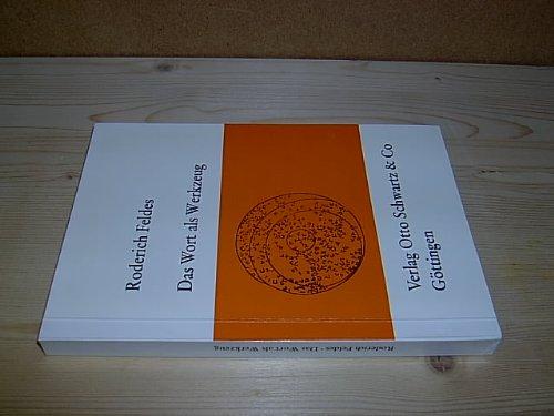 9783509009774: Das Wort als Werkzeug