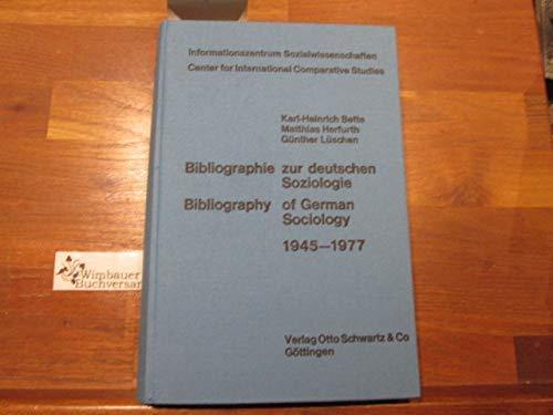 Bibliographie zur deutschen Soziologie.: Karl-Heinrich & Herfurth,
