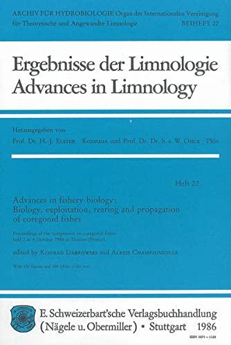 Advances in Fishery Biology: Biology Exploitation, Rearing: K. Dabrowski, A.