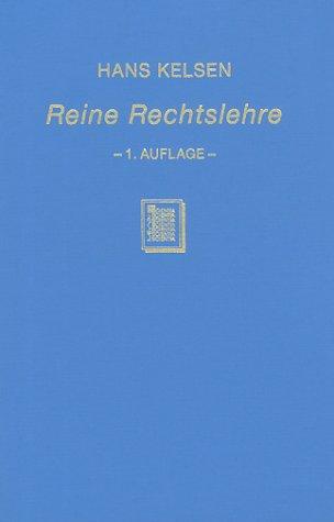 9783511092559: Reine Rechtslehre: Einleitung in Die Rechtswissenschaftliche Problematik