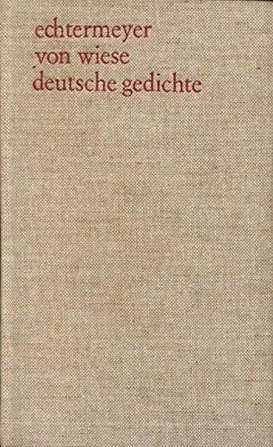 9783513107008: Deutsche Gedichte