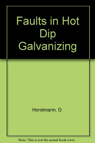 9783514002982: Faults in Hot Dip Galvanizing