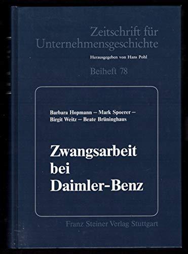 9783515064408: Zwangsarbeit bei Daimler- Benz.