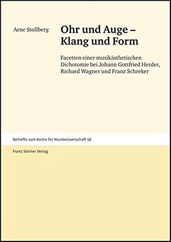 Ohr Und Auge: Klang Und Form Facetten Einer Musikasthetischen Dichotomie Bei Johann Gottfried ...