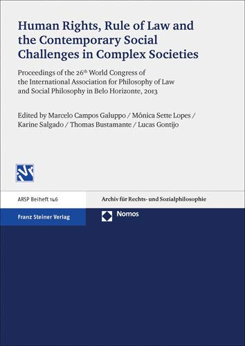 9783515111300: Human Rights, Rule of Law and the Contemporary Social Challenges in Complex Societies: Proceedings of the 26th World Congress of the International ... and Social Philosophy in Belo Horizonte, 2013