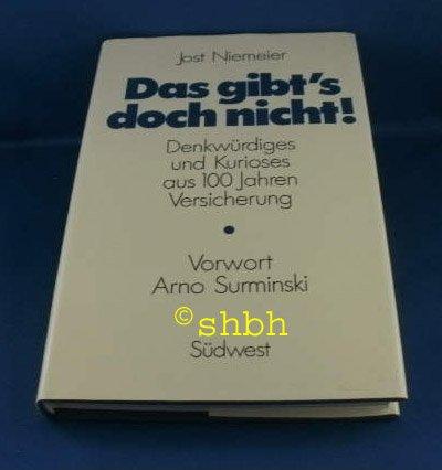 Jost Niemeier: Das gibt's doch nicht! -: Niemeier, Jost: