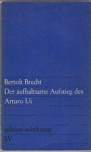 9783518001448: Der aufhaltsame Aufstieg des Arturo Ui (edition suhrkamp)