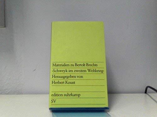 Materianlien Zu B Brecht: Schwey (German Edition): Brecht, Bertolt