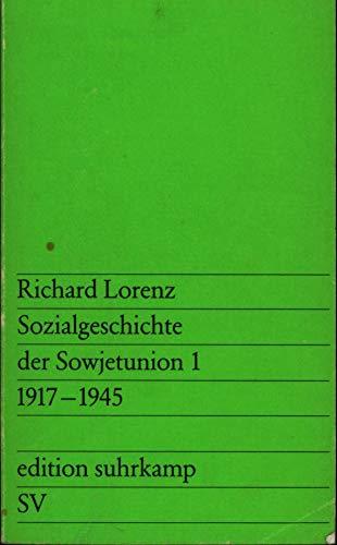 9783518006542: Sozialgeschichte der Sowjetunion