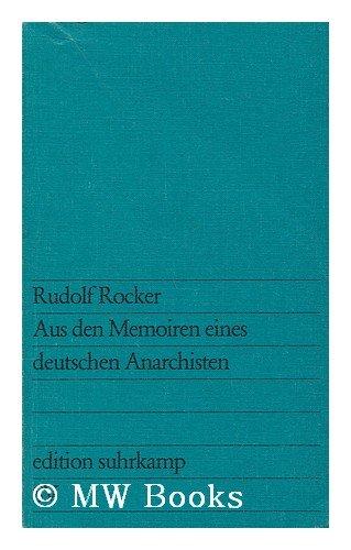 9783518007112: Aus den Memoiren eines deutschen Anarchisten (Edition Suhrkamp ; 711) (German Edition)