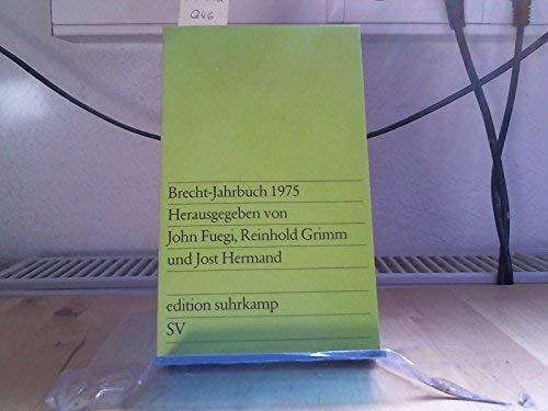 Brecht-Jahrbuch 1975: Brecht Bertolt) -