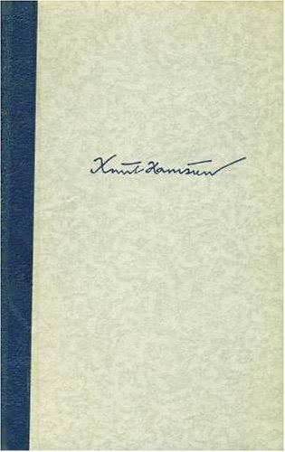 Hunger. Berechtigte, revidierte Übersetzung von J. Sandmeier: Hamsun, Knut: