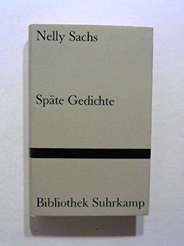 Späte Gedichte, - Sachs, Nelly