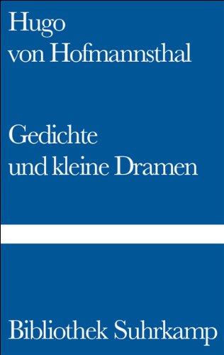 9783518011744: Gedichte Und Kleine Dramen