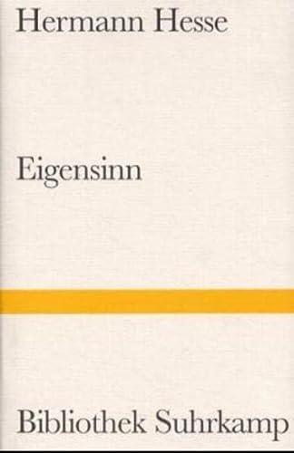 9783518013533: Eigensinn. Autobiographische Schriften.