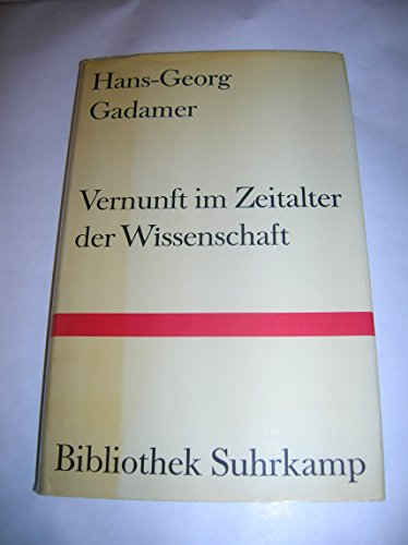9783518014875: Vernunft im Zeitalter der Wissenschaft: Aufsätze (Bibliothek Suhrkamp ; Bd. 487) (German Edition)