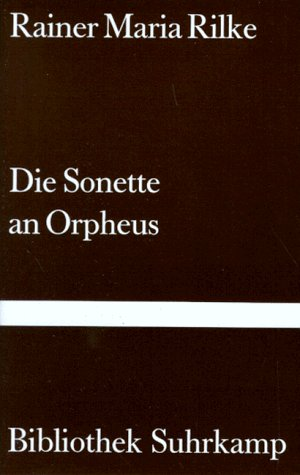 9783518016343: Sonnets To Orpheus, Translated By J B Leishman