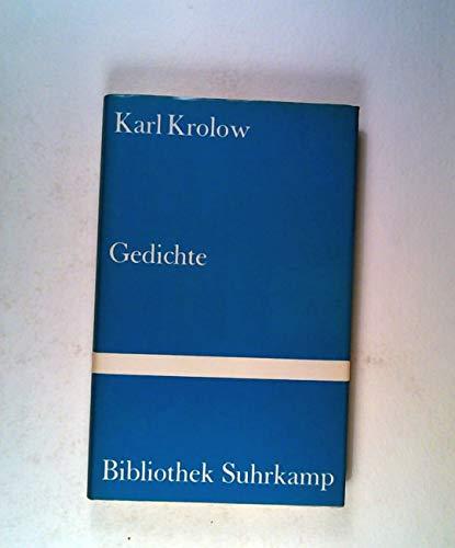 Gedichte. Auswahl und Nachwort von Gabriele Wohmann. Bibliothek Suhrkamp Nr. 672 - Krolow,Karl