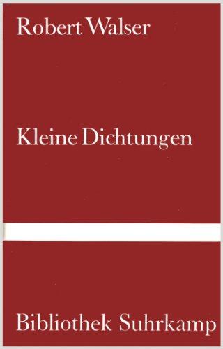9783518016848: Kleine Dichtungen