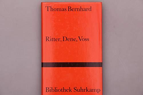 9783518018880: Ritter. Dene. Voss