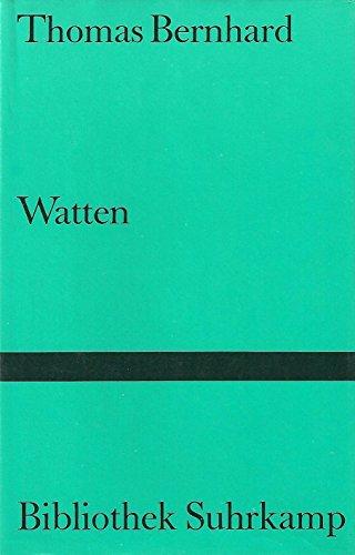 9783518019559: Watten. Ein Nachlass