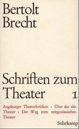 9783518023310: Schriften zun Theater 2 1918-1933