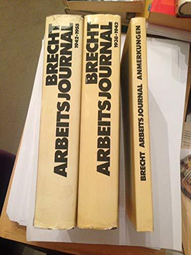 9783518024652: Bertolt Brechts Arbeits Journal 3VOL