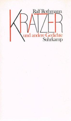 9783518026571: Kratzer und andere Gedichte (German Edition)