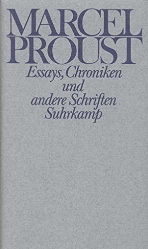 Werke. Frankfurter Ausgabe: Marcel Proust