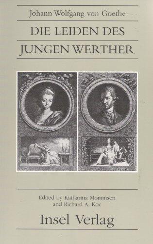 9783518029718: Die Leiden Des Jungen Werther (Suhrkamp/Insel series in German literature)