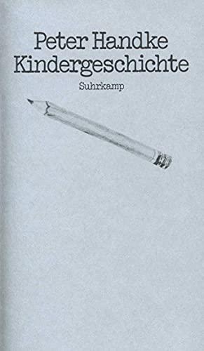 9783518030165: Kindergeschichte (German Edition)