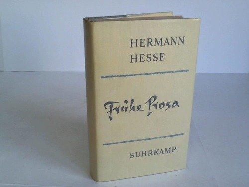 9783518031315: Frühe Prosa