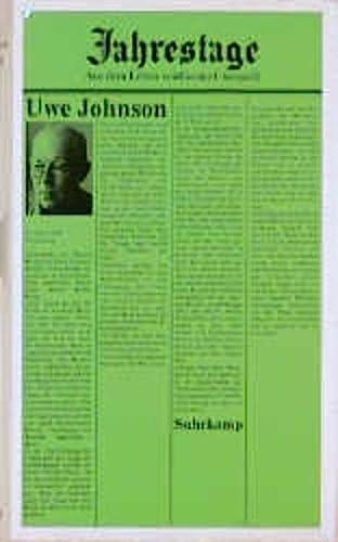 9783518033302: Jahrestage. Aus dem Leben von Gesine Cresspahl. Band 4 (von 4).