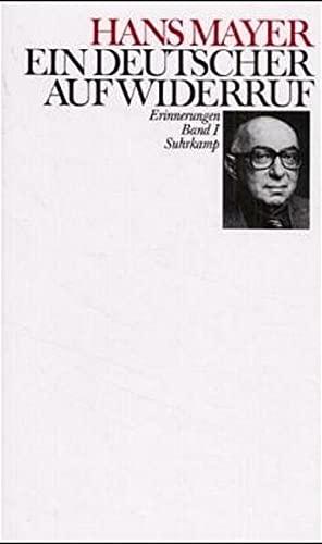 9783518036464: Ein Deutscher auf Widerruf: Erinnerungen (German Edition)