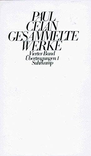 Gesammelte Werke in funf Banden (German Edition): Paul Celan