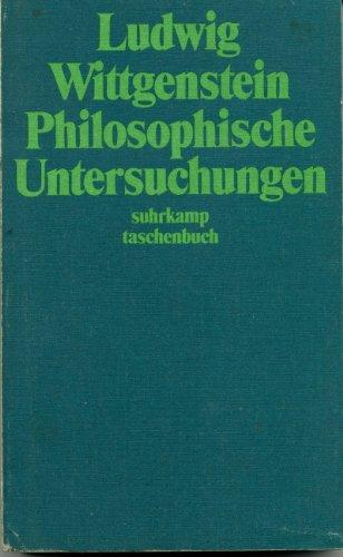 9783518065143: Philosophische Untersuchungen Suhrkamp-taschenbuecher; 14.